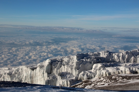 Glaciers at Kili summit