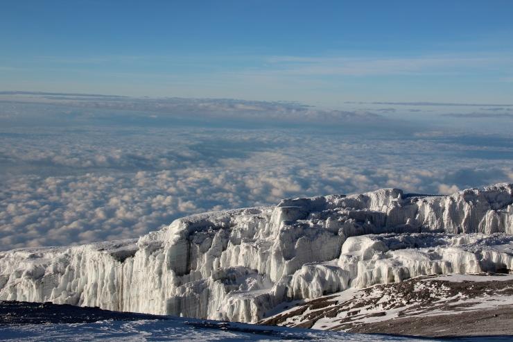 Glaciers at Kili summit